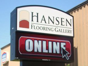 Cabinet Signs custom lighted led outdoor pole sign 300x225
